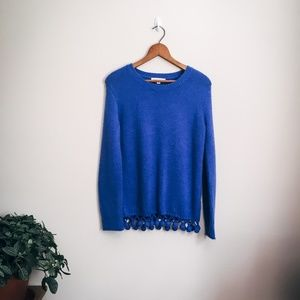 Cute Blue Sweater with Tassel Detail